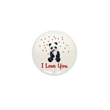 Panda Bear Valentine Mini Button (100 pack)