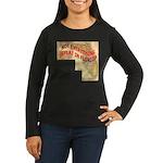 Flat Florida Women's Long Sleeve Dark T-Shirt