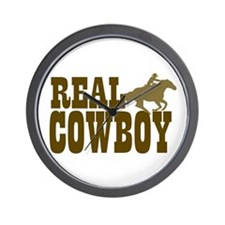 REAL COWBOY Wall Clock