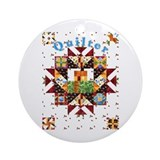 Country Cottage Quilter  Ornament (Round)
