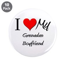 "I Love My Grenadan Boyfriend 3.5"" Button (10 pack)"