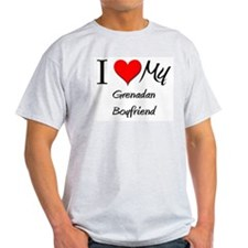 I Love My Grenadan Boyfriend T-Shirt