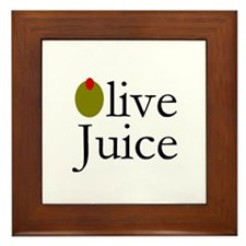 Olive Juice Framed Tile