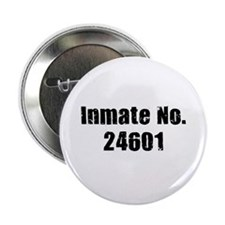 "Inmate Number 24601 2.25"" Button (10 pack)"