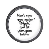 Men's Eyes Wall Clock