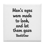 Men's Eyes Tile Coaster
