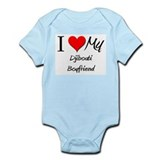 I Love My Djibouti Boyfriend Infant Bodysuit
