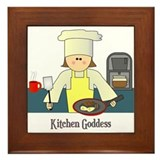 Kitchen Goddess Framed Tile