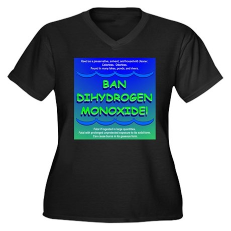 Ban Dihydrogen Monoxide Women's Plus Size V-Neck D