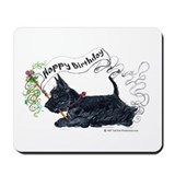 Scottish Terrier Birthday Dog Mousepad