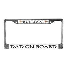 Bulldog Dad License Plate Frame