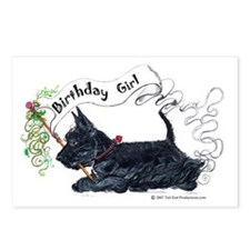 Scottie Girl Birthday Postcards (Package of 8)