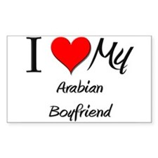 I Love My Arabian Boyfriend Rectangle Decal