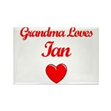 Grandma Loves Ian Rectangle Magnet (10 pack)