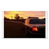 Florida Highway Patrol State Rectangle Decal