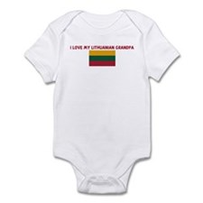 I LOVE MY LITHUANIAN GRANDPA Infant Bodysuit