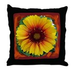 Large flower - yellow Throw Pillow