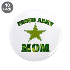 """Proud army Mom 3.5"""" Button (10 pack)"""