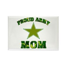Proud army Mom Rectangle Magnet (10 pack)