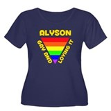 Alyson Gay Pride (#009) Women's Plus Size Scoop Ne