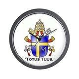 John Paul II's Crest Wall Clock