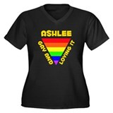Ashlee Gay Pride (#009) Women's Plus Size V-Neck D