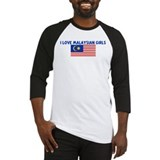 I LOVE MALAYSIAN GIRLS Baseball Jersey