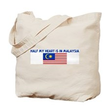 HALF MY HEART IS IN MALAYSIA Tote Bag