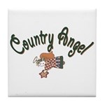 Country Angel Tile Coaster