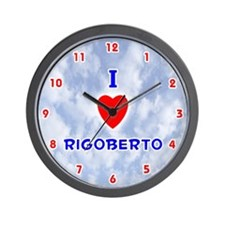I Love Rigoberto (Red/Bl) Valentine Wall Clock