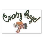 Country Angel Rectangle Sticker