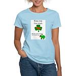 KISS ME IM IRISH AND FRENCH Women's Pink T-Shirt