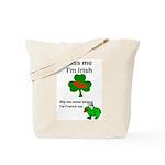 KISS ME IM IRISH AND FRENCH Tote Bag