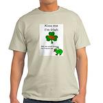 KISS ME IM IRISH AND FRENCH Ash Grey T-Shirt