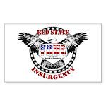 VRWC Red State Rectangle Sticker