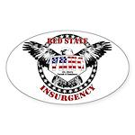 VRWC Red State Oval Sticker