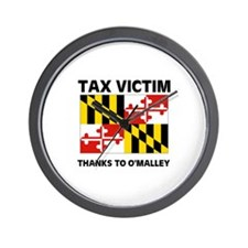 TAX VICTIM Wall Clock