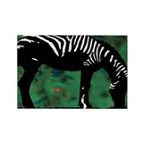 Zebra Rectangle Magnet