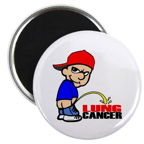 "Piss On Lung Cancer 2.25"" Magnet (10 pack)"