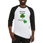 KISS ME IM IRISH, FROG WITH TONGUE Baseball Jersey