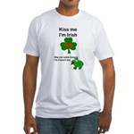 KISS ME IM IRISH, FROG WITH TONGUE Fitted T-Shirt