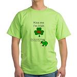 KISS ME IM IRISH, FROG WITH TONGUE Green T-Shirt