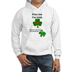 KISS ME IM IRISH, FROG WITH TONGUE Hooded Sweatshi