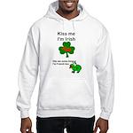 KISS ME IM IRISH, FROG WITH TONGUE Hooded Sweatshi