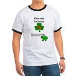 KISS ME IM IRISH, FROG WITH TONGUE Ringer T