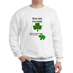 KISS ME IM IRISH, FROG WITH TONGUE Sweatshirt