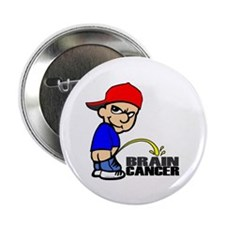 "Piss On Brain Cancer 2.25"" Button"