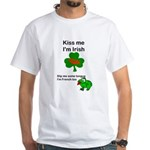 KISS ME IM IRISH, FROG WITH TONGUE White T-Shirt