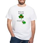 KISS ME IM IRISH, FROG WITH TONGUE White T-Shirt