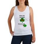 KISS ME IM IRISH, FROG WITH TONGUE Women's Tank To